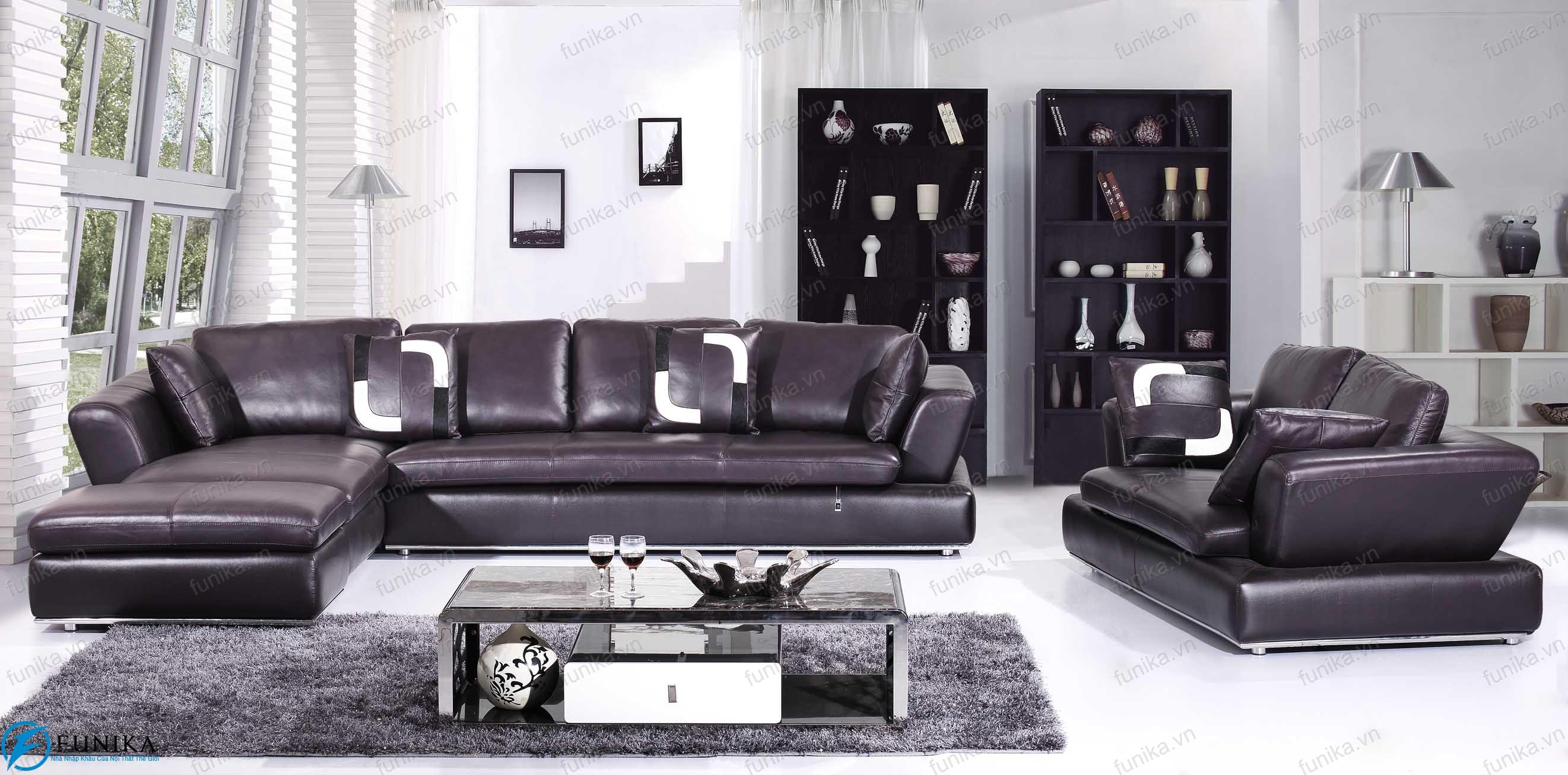 Sofa da nhập khẩu S-333