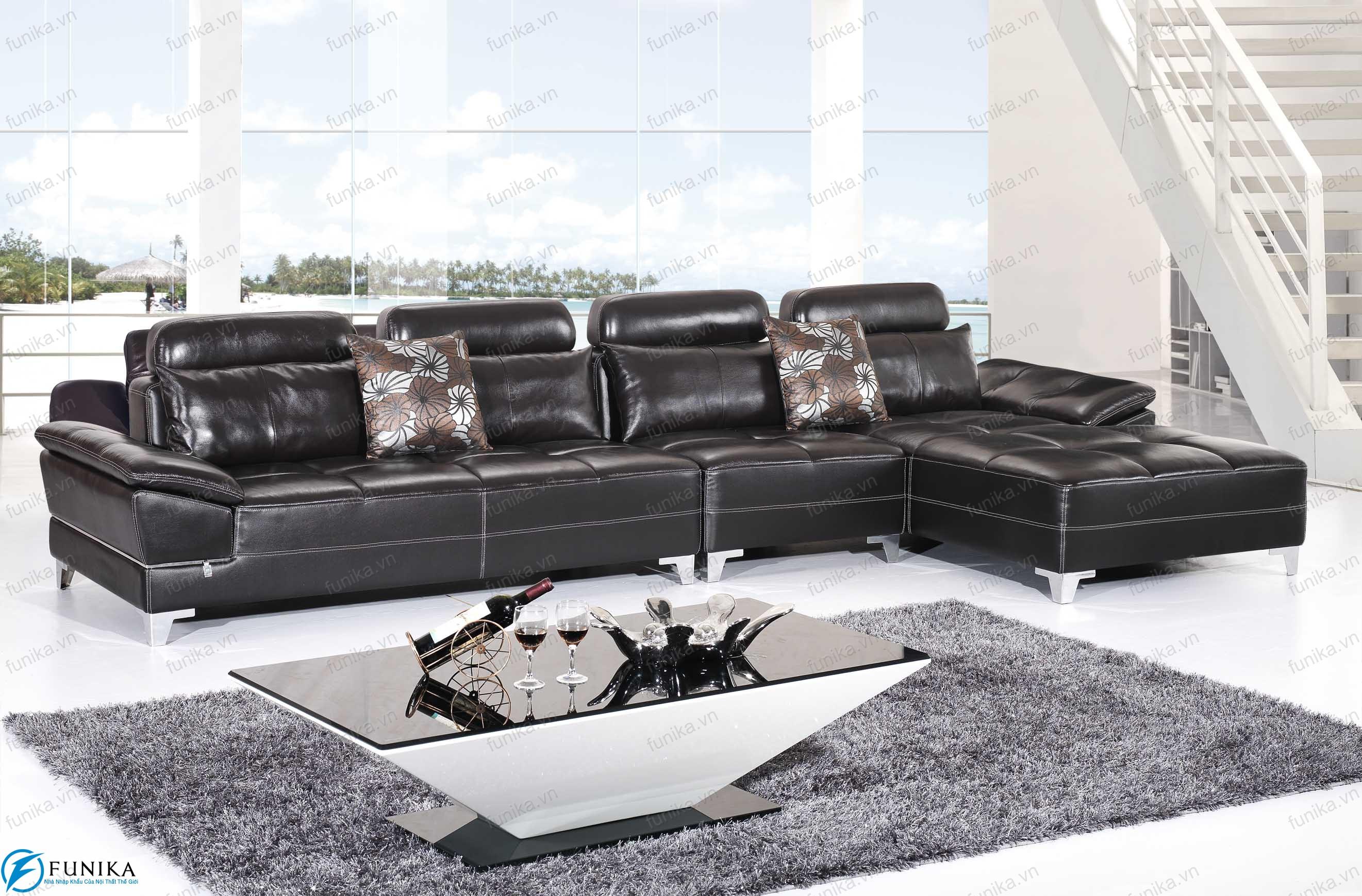 Sofa da nhập khẩu S-356