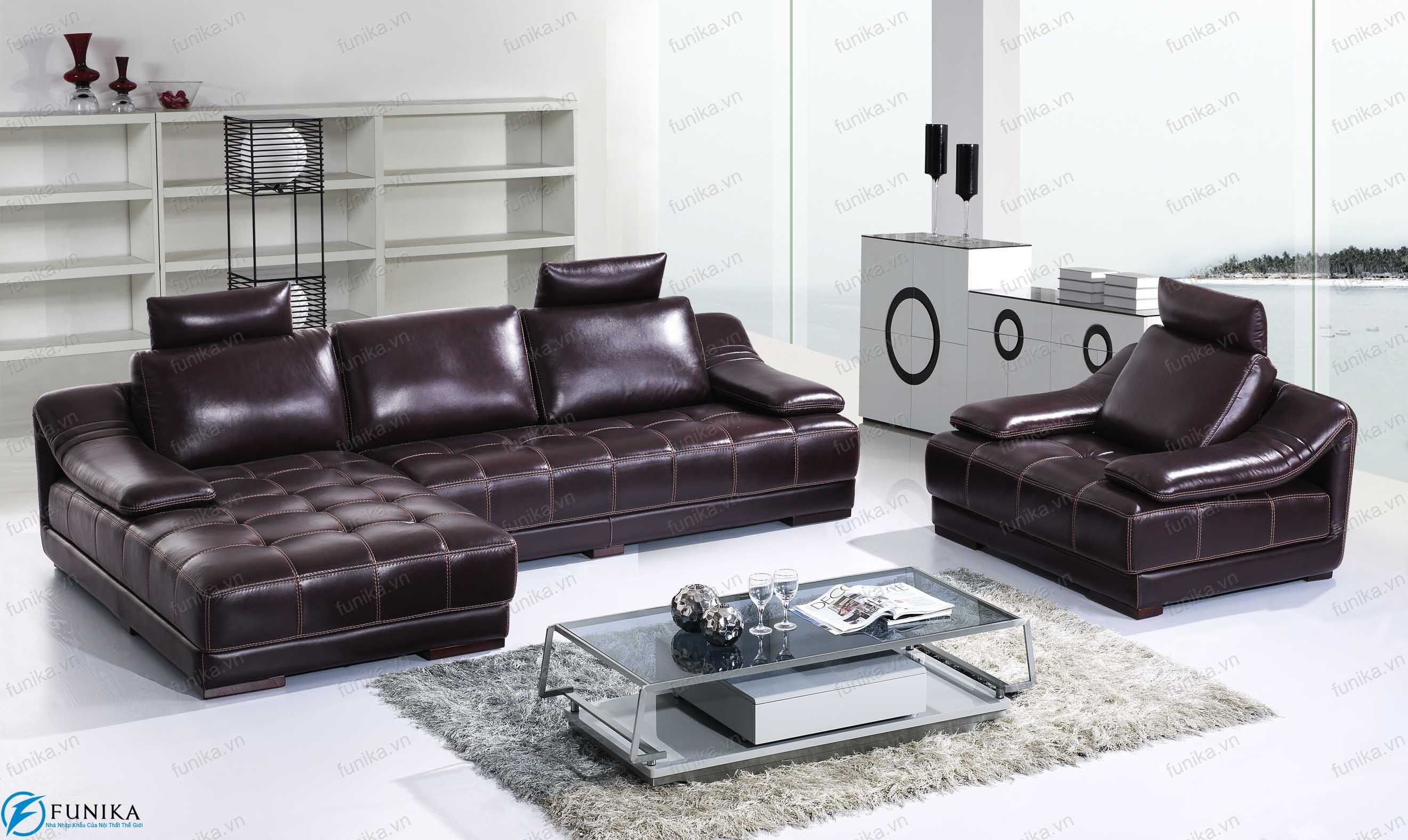 Sofa da nhập khẩu S-358