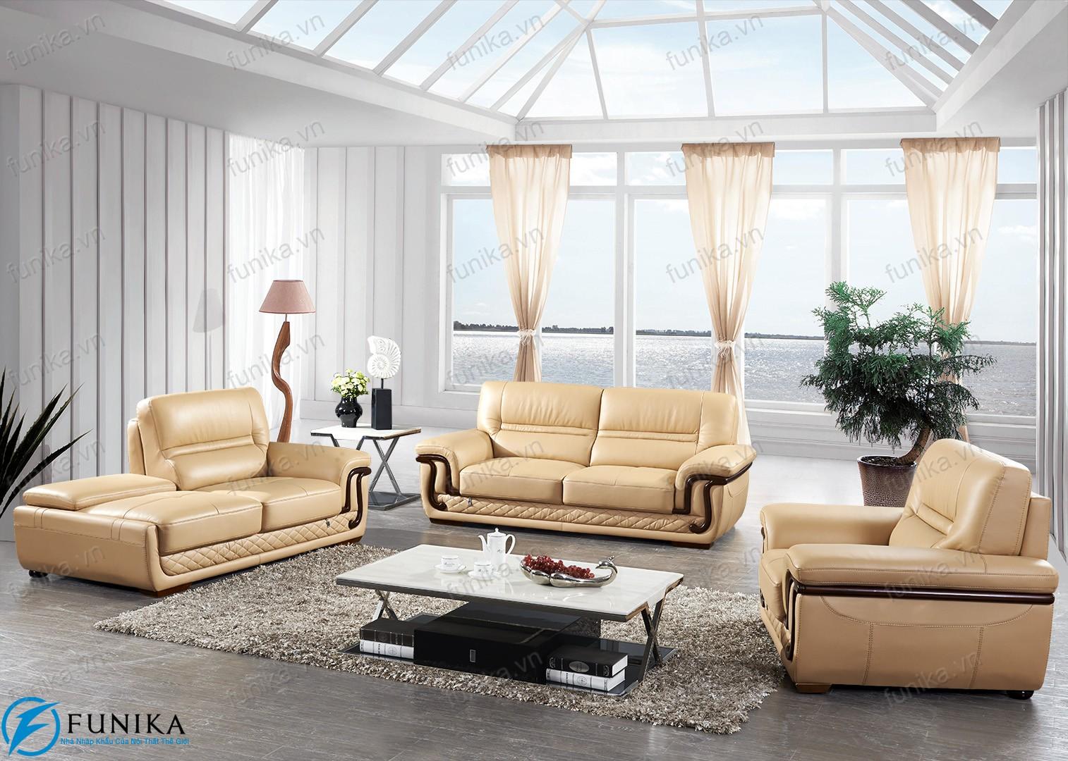 Sofa da nhập khẩu S-523