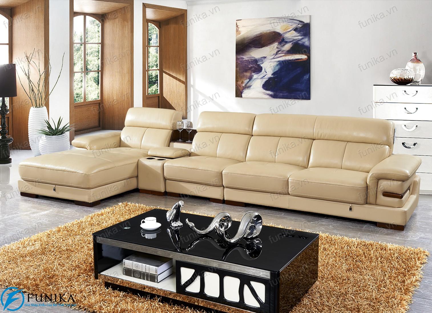 Sofa da nhập khẩu S-528