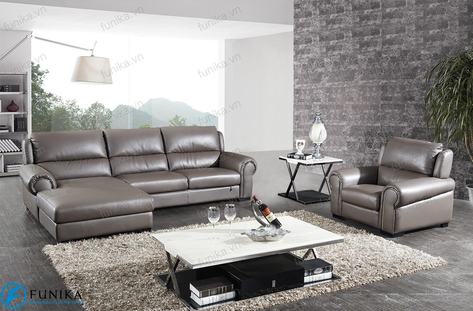 Sofa da nhập khẩu S-536