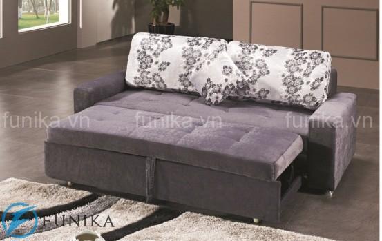 Sofa giường thông minh cao cấp Funika khi ở trạng thái giường ngủ