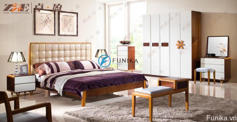 Giường ngủ đẹp nhập khẩu AG014